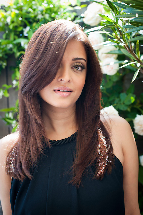 CANNES, FRANCE - MAY 12  Aishwarya Rai Loreal girl poses for portrait before being interviewed by Jonathan Ross for Cinémoi TV on the roof garden of The Martinez in Cannes, during the 64th Cannes Film Festival on May 12, 2011 in Cannes, France