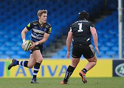 Bath's Will Flinn.  - Mandatory byline: Alex Davidson/JMP - 07966386802 - 30/01/2016 - RUGBY - Sandy Park -Exeter,England - Exeter Chiefs u18's v Bath Rugby u18's - U18 League