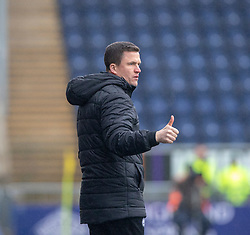 Partick Thistle's manager Gary Caldwell. Falkirk 1 v 1 Partick Thistle, Scottish Championship game played 16/3/2019 at The Falkirk Stadium.