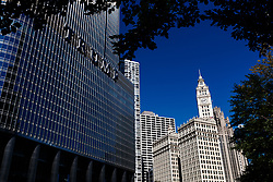 The Trump international hotel & tower, (left) and the Wrigley building, (right)