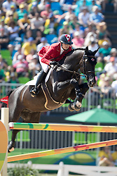 Foster Tiffany, CAN, Tripple X III<br /> owner of the horse of Jerome with arms in the air<br /> Olympic Games Rio 2016<br /> © Hippo Foto - Dirk Caremans<br /> 14/08/16