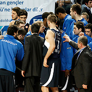 Efes Pilsen's players during their Turkish Airlines Euroleague Basketball Top 16 Group G Game 4 match Efes Pilsen between Real Madrid at Sinan Erdem Arena in Istanbul, Turkey, Thursday, February 17, 2011. Photo by TURKPIX