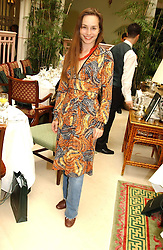 Actress TARA FITZGERALD at a fashion show of Sybil Stanislaus Summer 2005 collection with jewellery by Philippa Holland held at The Lanesborough Hotel, Hyde Park Corner, London on 13th April 2005.<br /><br />NON EXCLUSIVE - WORLD RIGHTS