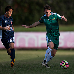 BRISBANE, AUSTRALIA - JULY 9:  during the NPL Queensland Senior Men's Round 17 match between Olympic FC and FNQ Heat at Goodwin Park on July 9, 2017 in Brisbane, Australia. (Photo by Patrick Kearney/Olympic FC)