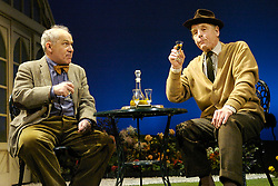 Legal Fictions<br /> (set ups taken from 'Edwin')<br /> at the Savoy Theatre, London, Great Britain<br /> press photocall<br /> 25th February 2008<br /> <br /> Edward Fox (as Sir Fennimore Truscott)<br /> <br /> Nicholas Woodeson (as Tom)<br /> <br /> Photograph by Elliott Franks