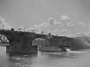 9969-1078. Burnside Bridge from the Southern Pacific docks. March 22, 1933.