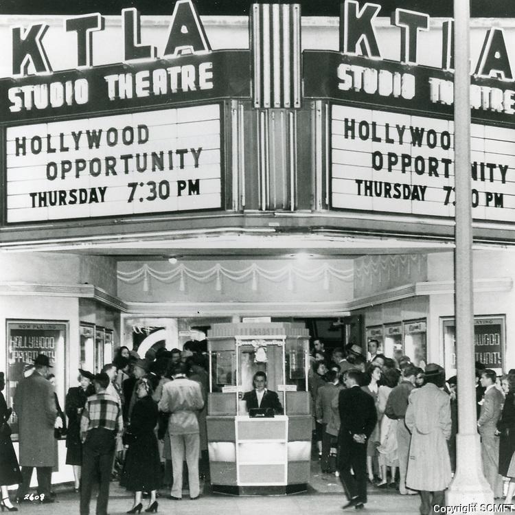 1951 KTLA Theater on Melrose Ave. at Van Ness St.