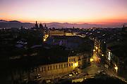City of Pamplona, Spain, at dawn.