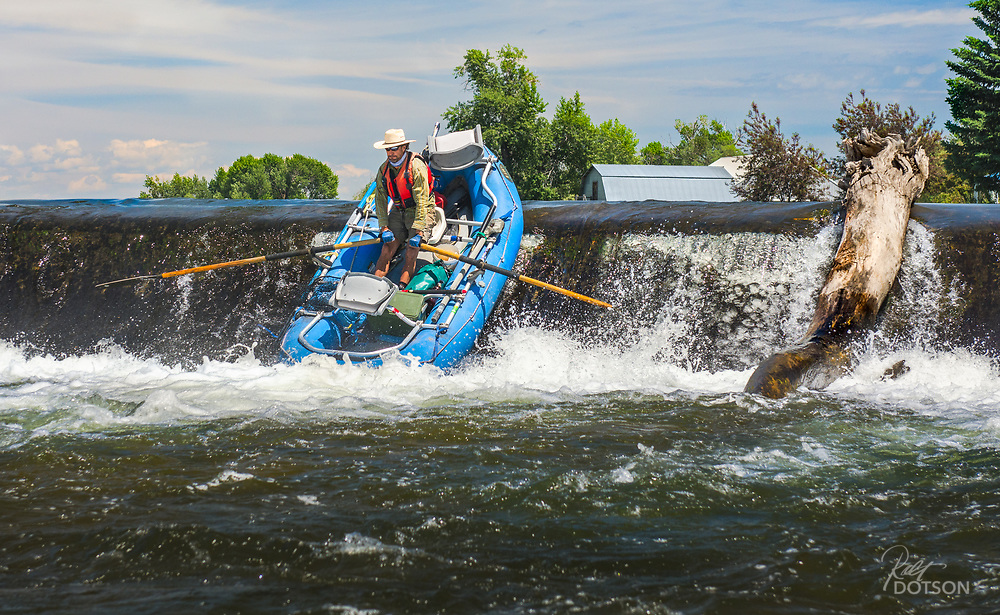 Impressive up and over for a lower Henry's Fork float on the Idaho diversion dams.