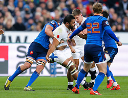 England Number 8 Billy Vunipola in action - Mandatory byline: Rogan Thomson/JMP - 19/03/2016 - RUGBY UNION - Stade de France - Paris, France - France v England - RBS 6 Nations 2016.