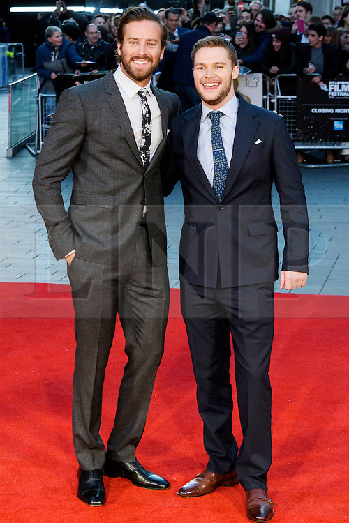 © Licensed to London News Pictures. 16/10/2016. London, UK. Photo credit: AMIE HAMMER and JACK REYNOR attend the film premiere of Free Fire showing at The London Film Festival. Ray Tang/LNP