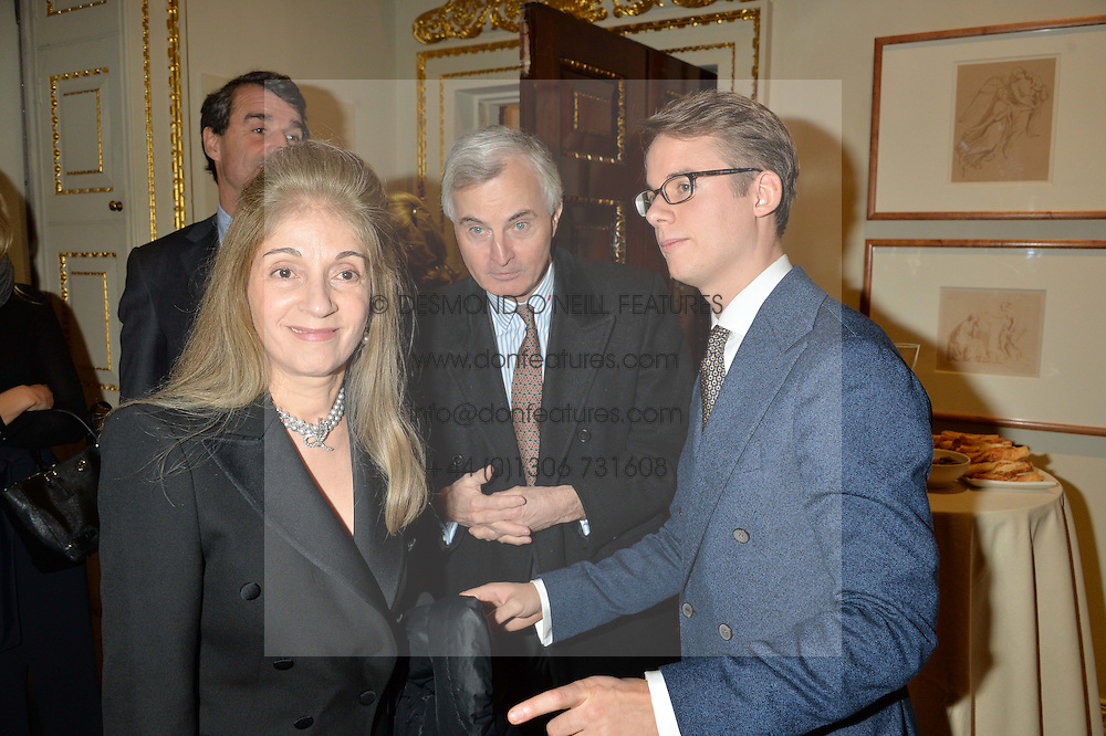 LONDON, ENGLAND 28 NOVEMBER 2016: Left to right, Prince Rupert von Preussen, Princess Ziba von Preussen and Wolf Burchard at a reception to celebrate the publication of The Sovereign Artist by Christopher Le Brun and Wolf Burchard held at the Royal Academy of Art, Piccadilly, London, England. 28 November 2016.