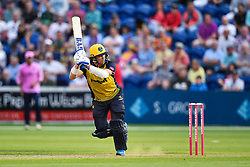 Dan Douthwaite<br /> <br /> Photographer Craig Thomas/Replay Images<br /> <br /> Vitality Blast T20 - Round 4 - Glamorgan v Middlesex - Friday 26th July 2019 - Sophia Gardens - Cardiff<br /> <br /> World Copyright © Replay Images . All rights reserved. info@replayimages.co.uk - http://replayimages.co.uk