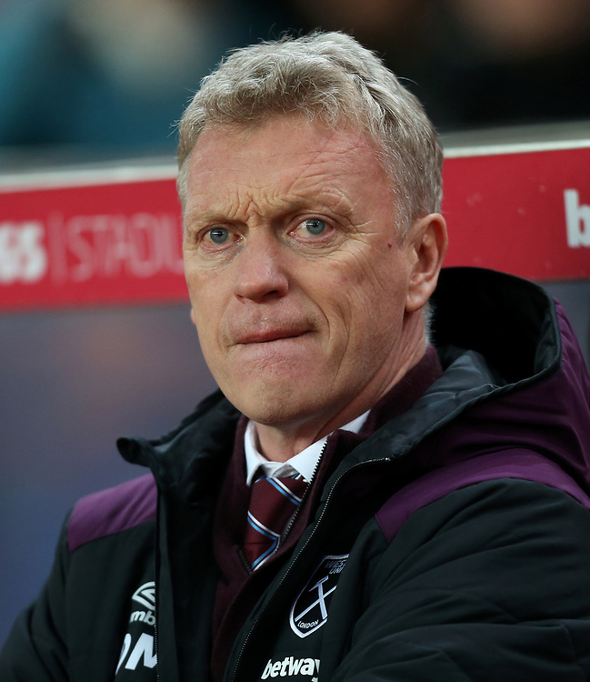 West Ham United manager David Moyes<br /> <br /> Photographer Rob Newell/CameraSport<br /> <br /> The Premier League - Stoke City v West Ham United - Saturday 16th December 2017 - Britannia Stadium - Stoke-on-Trent <br /> <br /> World Copyright © 2017 CameraSport. All rights reserved. 43 Linden Ave. Countesthorpe. Leicester. England. LE8 5PG - Tel: +44 (0) 116 277 4147 - admin@camerasport.com - www.camerasport.com