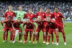 25-04-2012 VOETBAL: HALVE FINALE CL REAL MADRID - BAYERN MUNCHEN: MADRID<br /> Teamphoto Bayern Munchen during UEFA Champions League match<br /> ©2012-FotHoogendoorn.nl-nph/Alvaro Hernandez