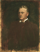 Cecil J Rhodes (1853-1902) English-born South African statesman. Made fortune in Kimberley diamond mines. Formed De Beers Consolidated Mines 1888.  In his will  heleft funds to found Rhodes Scholarships at Oxford University for Germans and Americans. George Frederick Watts (1817-1904).