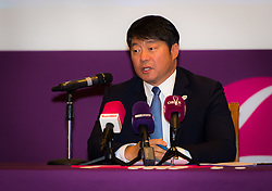 February 9, 2019 - Doha, QATAR - Tony Cho during the draw ceremony of the 2019 Qatar Total Open WTA Premier tennis tournament (Credit Image: © AFP7 via ZUMA Wire)