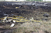 Malaysian Airlines MH17 shot down near the village of Hrabavo crash site in Donetsk Separatist zone, Eastern Ukraine Photo Bohdan Warchomij