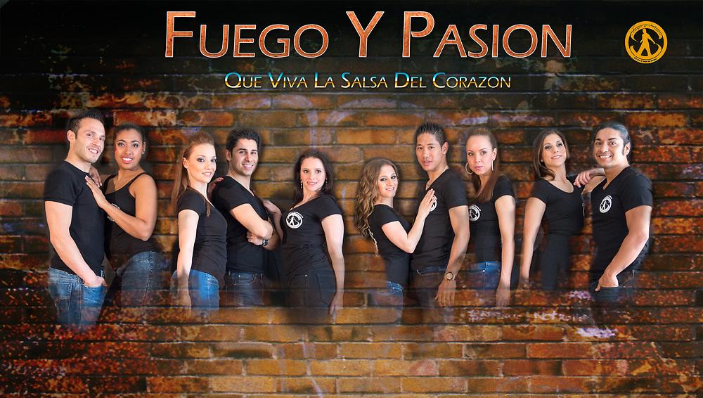 Flyer for the Fuego Y Pasion salsa school in Zürich