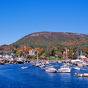Camden Harbor in autumn. Camden, Maine
