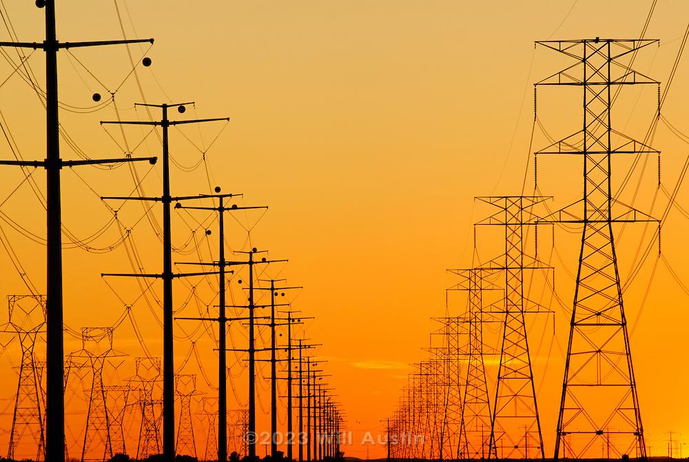 High voltage power lines near Phoenix Arizona
