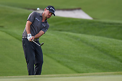May 2, 2019 - Charlotte, NC, U.S. - CHARLOTTE, NC - MAY 02: Brian Harman watches his chip approach shot during the first round of the Wells Fargo Championship at Quail Hollow on May 2, 2019 in Charlotte, NC. (Photo by William Howard/Icon Sportswire) (Credit Image: © William Howard/Icon SMI via ZUMA Press)