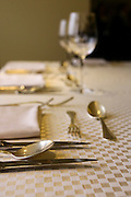 Atmospheric image of a Festive table setting for a formal dinner