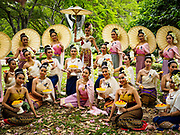 """08 APRIL 2017 - BANGKOK, THAILAND: Entertainers at the """"Amazing Songkran"""" festival in Benchasiri Park in Bangkok. The festival was sponsored by the Tourism Authority of Thailand to highlight the cultural aspects of Songkran. Songkran is celebrated in Thailand as the traditional New Year's Day from 13 to 16 April. Songkran is in the hottest time of the year in Thailand, at the end of the dry season and provides an excuse for people to cool off in friendly water fights that take place throughout the country. Songkran has been a national holiday since 1940, when Thailand moved the first day of the year to January 1. Songkran 2017 is expected to be more subdued than Songkran usually is because Thais are still mourning the October 2016 death of revered King Bhumibol Adulyadej.       PHOTO BY JACK KURTZ"""
