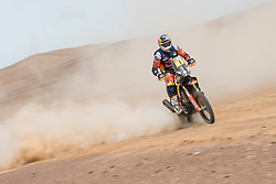 Toby Price (AUS) of Red Bull KTM Factory Team races during stage 04 of Rally Dakar 2019 from Arequipa to o Tacna, Peru on January 10, 2019 // Marcelo Maragni/Red Bull Content Pool // AP-1Y39E92Y11W11 // Usage for editorial use only // Please go to www.redbullcontentpool.com for further information. //
