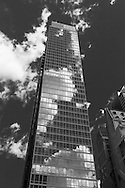 New York Times square,   mirror tower on 8th avenue ; United states