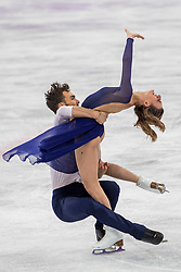 PYEONGCHANG-GUN, SOUTH KOREA - FEBRUARY 20: Gabriella Papadakis and Guillaume Cizeron of France compete in the Figure Skating Ice Dance Free Dance on day eleven of the PyeongChang 2018 Winter Olympic Games at Gangneung Ice Arena on February 20, 2018 in Gangneung, South Korea.  Photo by Ronald Hoogendoorn / Sportida
