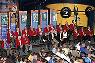 28 August 2006: Members of the Soccer Hall of Fame in their red HOF blazers welcome 4 new members. The National Soccer Hall of Fame Induction Ceremony was held at the National Soccer Hall of Fame in Oneonta, New York.