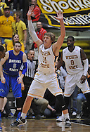 WICHITA, KS - JANUARY 18:  Guard Ron Baker #31 of the Wichita State Shockers gets set on defense against the Indiana State Sycamores during the second half on January 18, 2014 at Charles Koch Arena in Wichita, Kansas.  (Photo by Peter G. Aiken/Getty Images) *** Local Caption *** Ron Baker