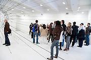 artwork display in the Tanya Bonakdar Gallery sculpture installation by Tomas Saraceno