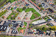 Nederland, Groningen, Gemeente Oldambt,  01-05-2013; centrum Winschoten met  korenmolen Edens aan de Oudewerfslaan, hoek Nassaustraat.<br /> Small provincial town, regional centre (northeast Holland).<br /> luchtfoto (toeslag op standard tarieven);<br /> aerial photo (additional fee required);<br /> copyright foto/photo Siebe Swart