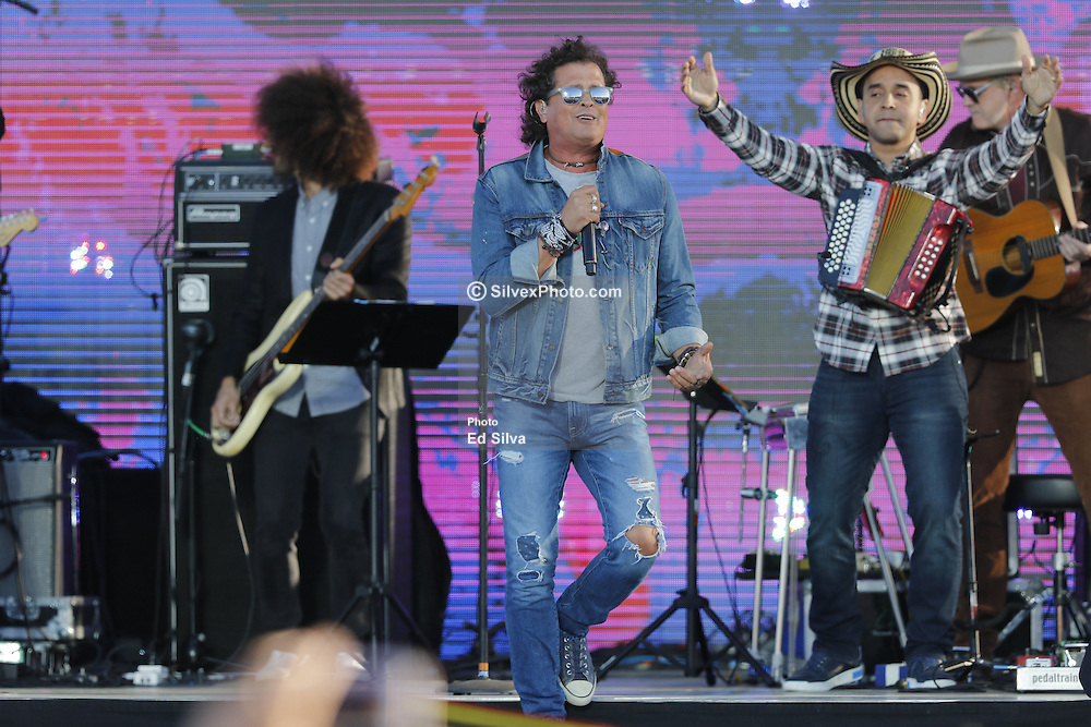 SAN DIEGO, CA - OCTOBER 15: Carlos Vives perfoms onstage at RiseUp AS ONE concert hosted by Univision and Fusion at Cross Border Xpress (CBX) on October 15, 2016 in San Diego, California, USA. Byline, credit, TV usage, web usage or linkback must read SILVEXPHOTO.COM. Failure to byline correctly will incur double the agreed fee. Tel: +1 714 504 6870.