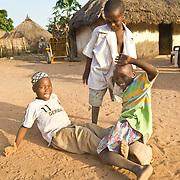 Koumbadiouma boys sharpen their football skills. Kolda, Senegal.