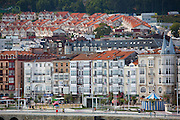 Traditional seafront architecture in seaside resort of Castro Urdiales in Northern Spain