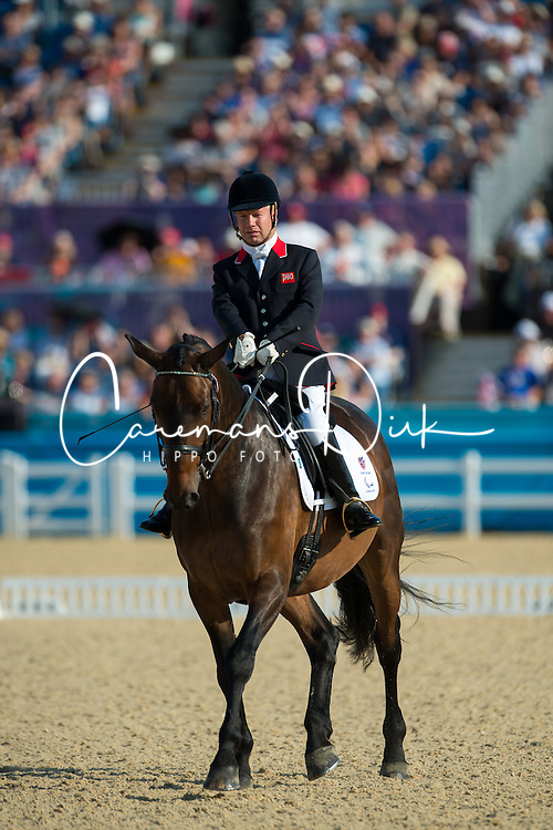 Pearson Lee (GBR) - Gentleman<br /> Team Test - Grade Ib - Dressage <br /> London 2012 Paralympic Games<br /> © Hippo Foto - Jon Stroud