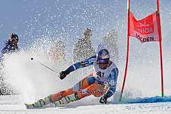 27.10.2013, Rettenbach Ferner, Soelden, AUT, FIS Weltcup, Ski Alpin, Riesenslalom, Herren, 1. Durchgang, im Bild Aksel Lund Svindal from Norway // Aksel Lund Svindal from Norway in action during 1st run of mens Giant Slalom of the FIS Ski Alpine Worldcup opening at the Rettenbachferner in Soelden, Austria on 2012/10/27. EXPA Pictures © 2013, PhotoCredit: EXPA/ Mitchell Gunn<br /> <br /> *****ATTENTION - OUT of GBR*****