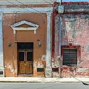 Faded colonial architecture in Merida, Mexico