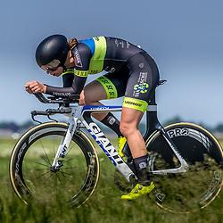 EMMEN (NED) June 16: <br />CYCLING <br />Dutch Nationals Time Trail Women Elite Juliet Eickhof
