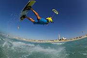 Cabrinha rider Richard Howes at Sunset Beach aka Kite Beach, Dubai, United Arab Emirates