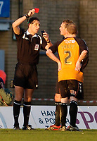 Photo: Leigh Quinnell.<br /> Milton Keynes Dons v Barnet. Coca Cola League 2. 20/01/2007. Referee Andre Mariner sends off Barnets Ian Hendon.