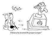 'I believe he invented the pooper-scooper'