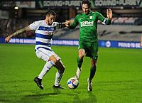Football - 2020 / 2021 Sky Bet Championship - Queens Park Rangers vs Preston North End - Loftus Road<br /> <br /> Geoff Cameron of QPR Alan Browne of Preston<br /> <br /> CREDIT : COLORSPORT / Andrew Cowie