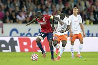 SOCCER : LOSC vs Montpellier - L1 - 09/21/2014<br /> Rio Antonio MAVUBA (lille) vs Victor Hugo MONTANO (Montpellier)<br /> Norway only