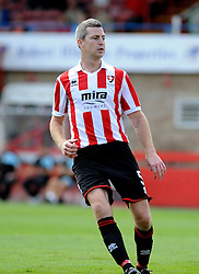 Arron Downes of Cheltenham Town - Mandatory by-line: Neil Brookman/JMP - 25/07/2015 - SPORT - FOOTBALL - Cheltenham Town,England - Whaddon Road - Cheltenham Town v Bristol Rovers - Pre-Season Friendly