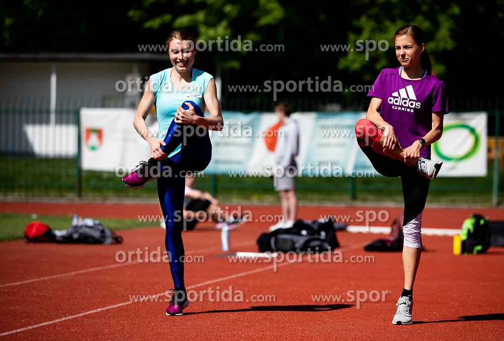 Athletes Marusa Mismas Zrimsek and Klara Lukan during practice session after loosening coronavirus COVID-19 restriction, on May 3, 2020 in Stadion Kodeljevo, Ljubljana, Slovenia. Photo by Vid Ponikvar / Sportida
