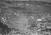 "Ackroyd 04054-09. ""Aerials NW & N. Guilds Lake. Montgomery Ward. December 13, 1952""  (5x7"")"